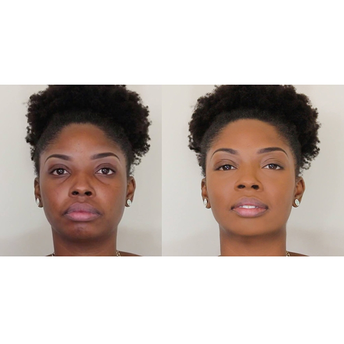 Before and after Cream To Powder